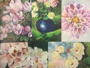 Mimi collection - floral themed 5 card pack #1