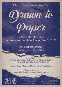Drawn to Paper: Atlantic Gallery Juried Show 2020