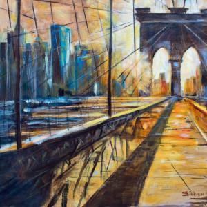 Brooklyn  Sunset by sharon sieben