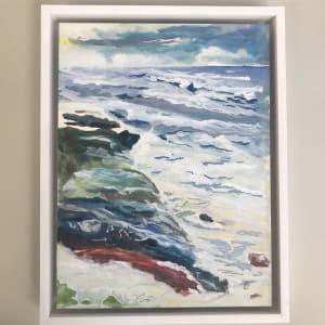 4/588- Storm surge 2 Yachats; Newport Art Center