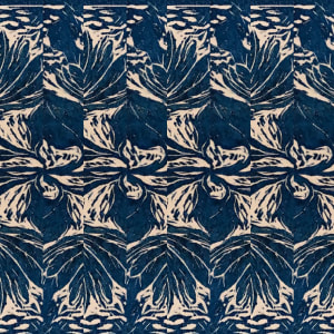 752- Repetitive Bloom Blue 4 by Katy Cauker