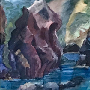 060 -  Art Presence Special- Standing Stones - Seascape --Finding Form I  - Port Orford Harbor by Katy Cauker
