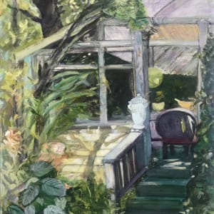 678- Rogue Gallery - Porch Haven 1/ Baldessare's Italio Gardens- Rogue Gallery 2021 by Katy Cauker