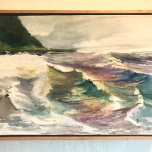 324 - Cross Current —No Swish - Swing not Sway - Yachats Waves by Katy Cauker