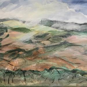 293 - Art Presence Special - Vista & Vineyard - Eastern Hills by Katy Cauker
