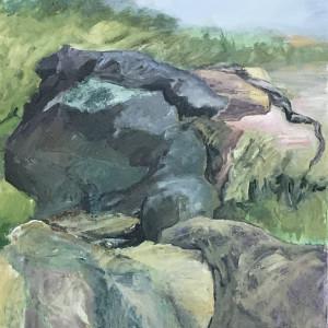 308 - Rock Stack - Ona Beach by Katy Cauker