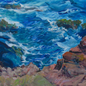 Sold.  Over the Edge in Mendocino by Katy Cauker