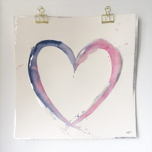 Pink and blue heart mka2un