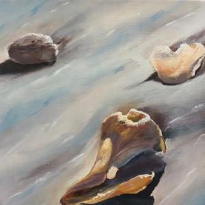 Millions of new doors seascape oil painting by phyllis sharpe greensboro nc seashells sand reflections kurn2d