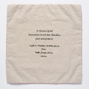 Craftivism Gift for Waskam Emelda Davis by Helen Fraser