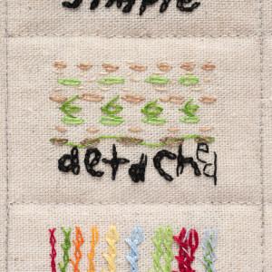 Yumi Olgeta Chainstitch Sampler No 1 by Helen Fraser