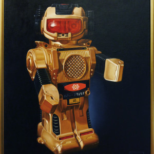 Gold Robot by Daevid Anderson