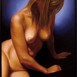 Nude Sitting #4 by Daevid Anderson