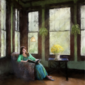 Cassie Reading by Mary Ahern
