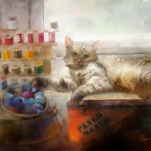 Marco in the Craft Room by Mary Ahern