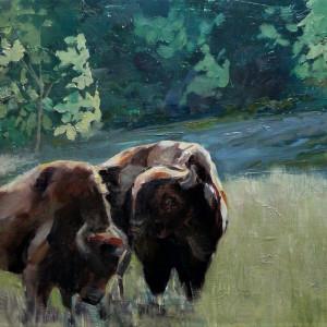 11x14 oil prairie pair o342cy