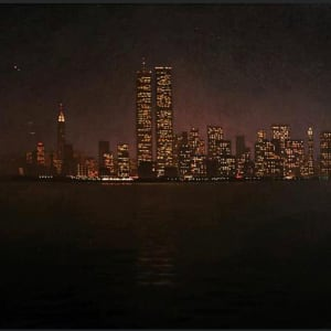 Manhattan at Night by Michael Newberry