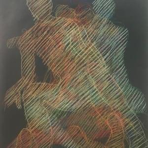 """Sitting Echoes, Newberry, pastel on dark paper, 26x19"""""""