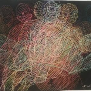 """Echoes, Newberry, 2020, pastel on dark paper, 22x30"""""""