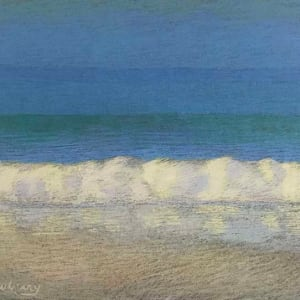 Apollo Beach, Blue, Yellow, and Pink by Michael Newberry