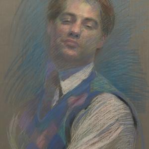 Self-Portrait Color Study for Pursuit by Michael Newberry