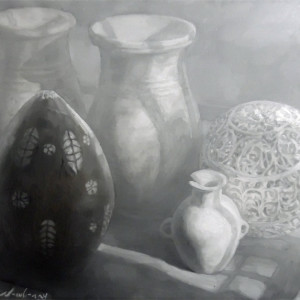 Three Jars, an Orb, and a Wood Coconut