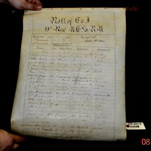 Roll Call 9th Regiment October 10th 1866