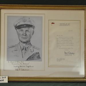 Photograph and Letter from LTG Willis D. Crittenberger