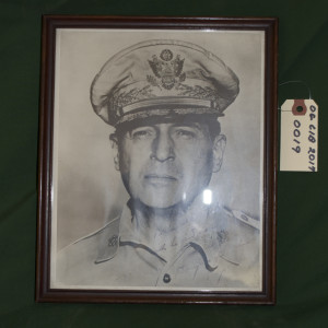 5 Star General Douglas MacArthur Signed Photograph