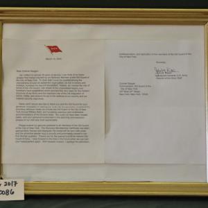 Letter from Lieutenant General John M. Pickler