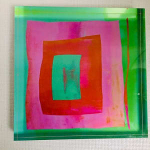 Good Vibrations (Lucite block) by Katherine Evans