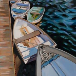 On the Dock Annisquam by Paula Morgan