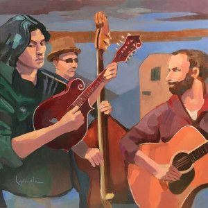 Four musicians in a tangle bnfspe