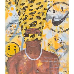nike head. (yellow)