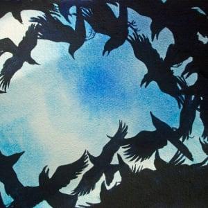 Crow Dusk Study, 29 of 33 by Helen R Klebesadel