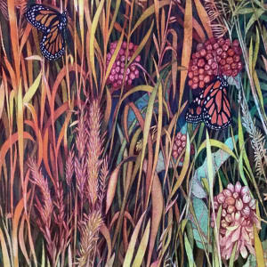 Autumn Grasses II by Helen R Klebesadel