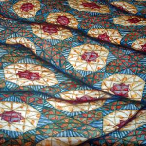 Grandmother's Flower Garden Quilt by Helen R Klebesadel