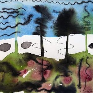 Ink Tree Study III by Helen R Klebesadel