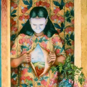 Wallflower Muses Triptych by Helen R Klebesadel