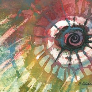 Abstract Spiral an original watercolor by Helen R Klebesadel