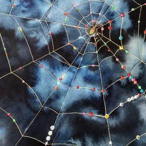 Arachne's Choice an original watercolor by Helen R Klebesadel