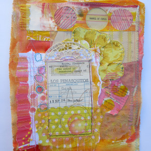 The Sound of Sunshine ~ library card collage