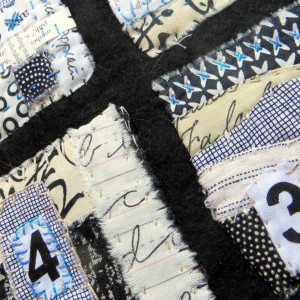 It's Not Always Black and White ~ text on textiles mini