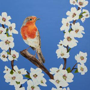 Robin in Blossom