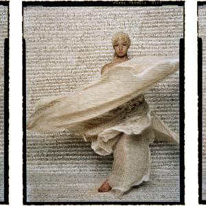 Dancer Triptych by Lalla Essaydi