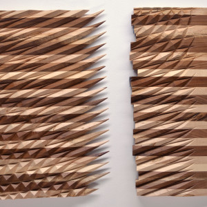 Interference Pattern Taper 004 (Diptych) by Michael Mittelman