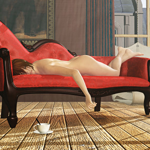 Nude Red Chaise
