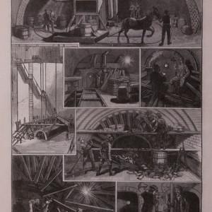 Der Hudson-River-Tunnelzwich en New-York, int