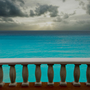 Sky, Sea, Railing Mexico