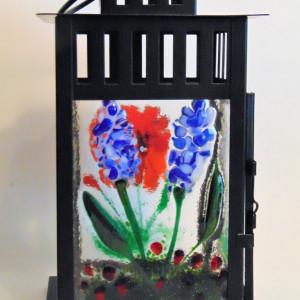 Lantern with Botanical Panels